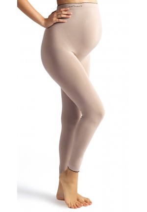 Legging grossesse Illusion beige