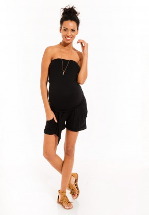 COMBISHORTBUSTIER - Maternity dungarees