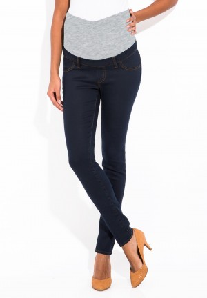 Skinny jean powerstretch blue over belly