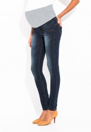 Jean slim powerstretch denim deluxe avec bandeau
