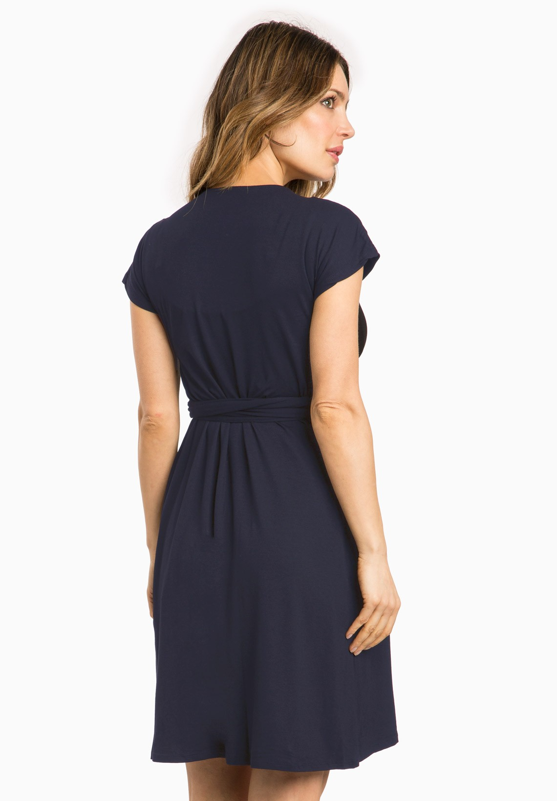 Maternity Dress PORTEFEUILLE Navy