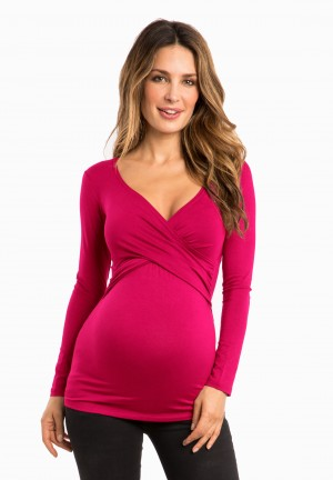 FIONA ls -  Pregnancy & nursing wrap top