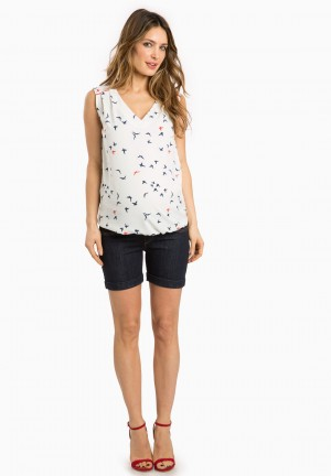 SHORT JEAN Ld - maternity short