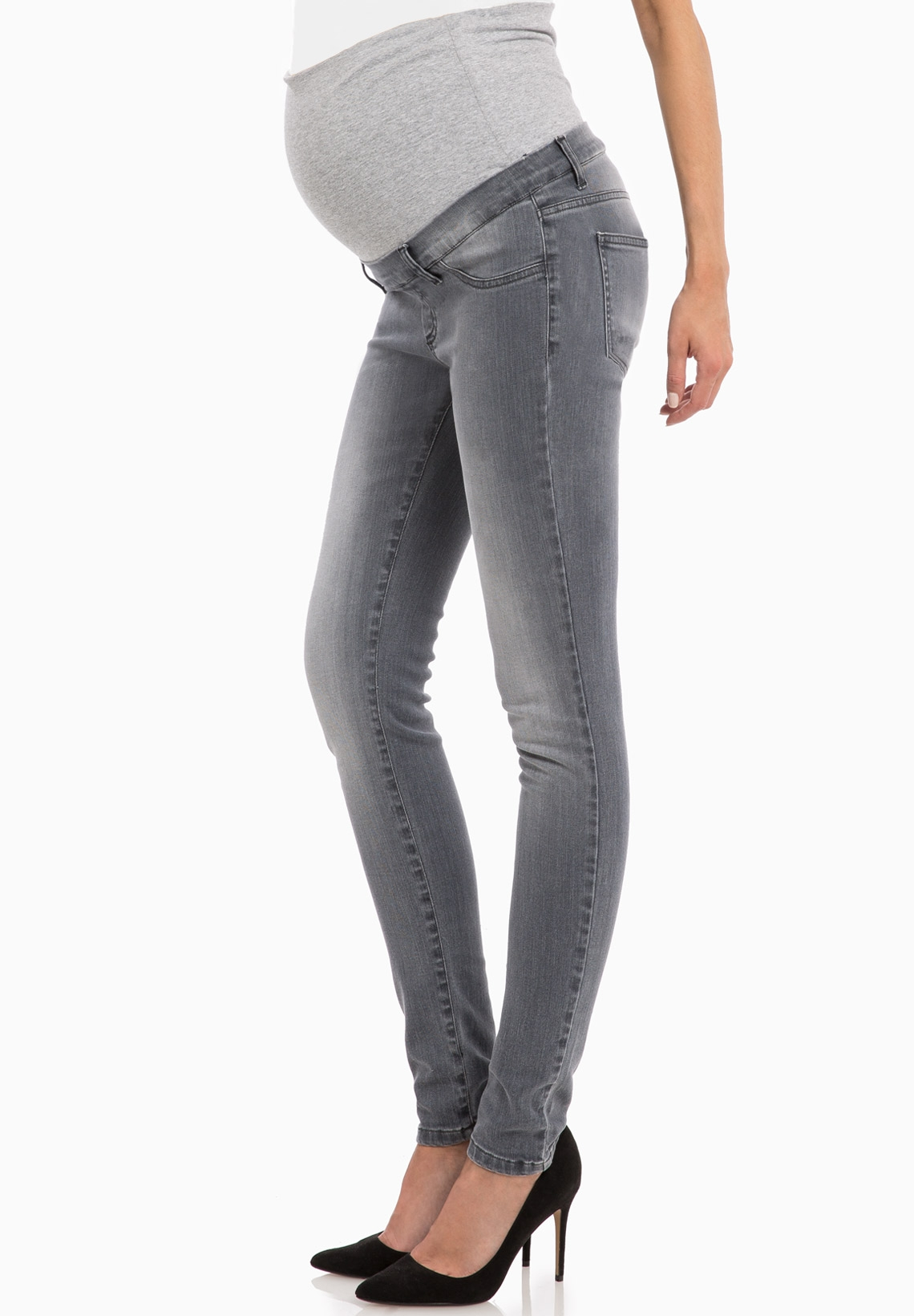 Skinny maternity jeans. Skinny jeans are a mainstay of women's fashion, so it's no surprise that lots of maternity jeans also have this cut. Skinny jeans are fitted through the thighs, calves, and ankles, making them a complementary choice for .