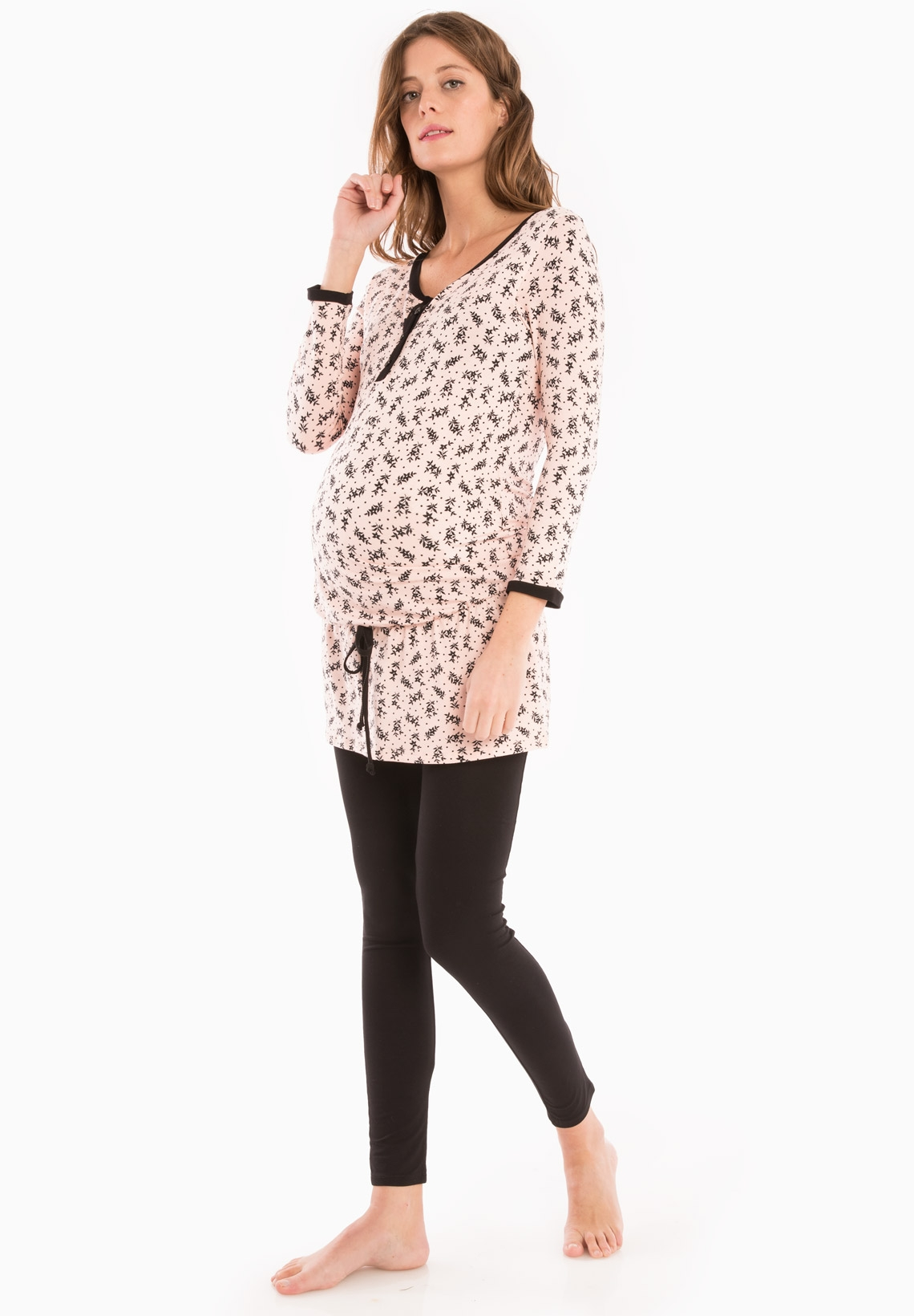 maternity nightwear reves ls feuillage03