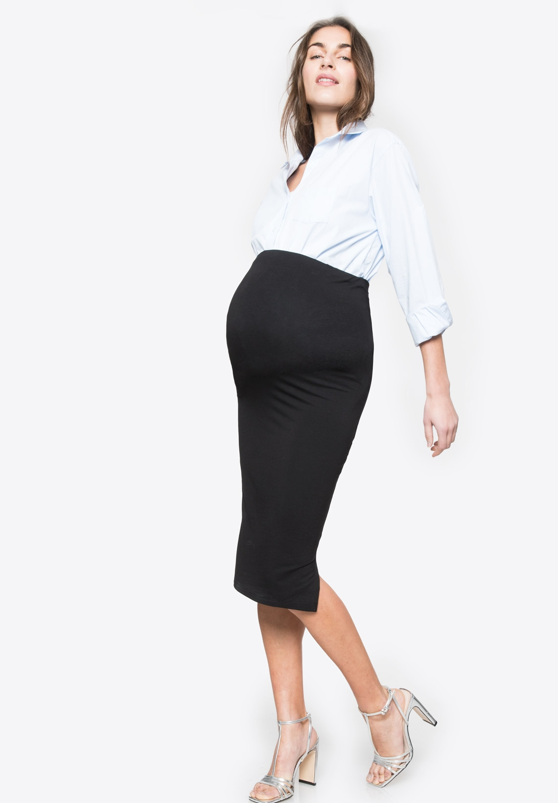 791e7993999606 ... CINDY - Maternity skirt with over belly band - Envie de Fraise ...