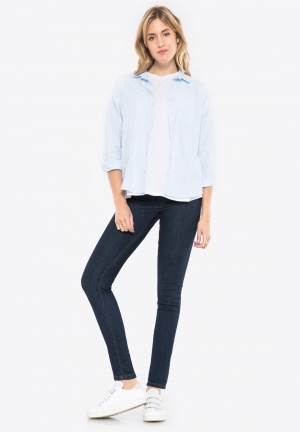 Low waist denim jeggings without pocket