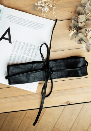Maternity leather belt