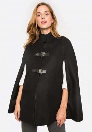 Maternity cape with funnel neck