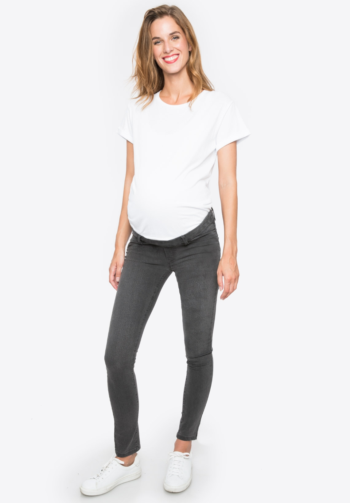 3bffd22632df2 Slim maternity jeans without band CLASSIC Grey