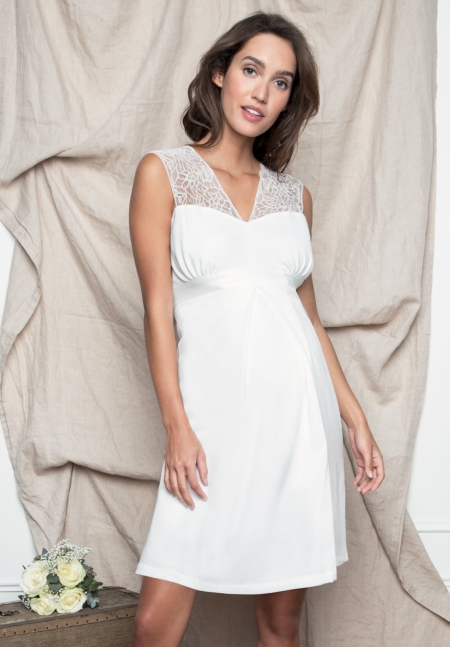 CASSANDRE TANK - Maternity dress with lace - Envie de Fraise