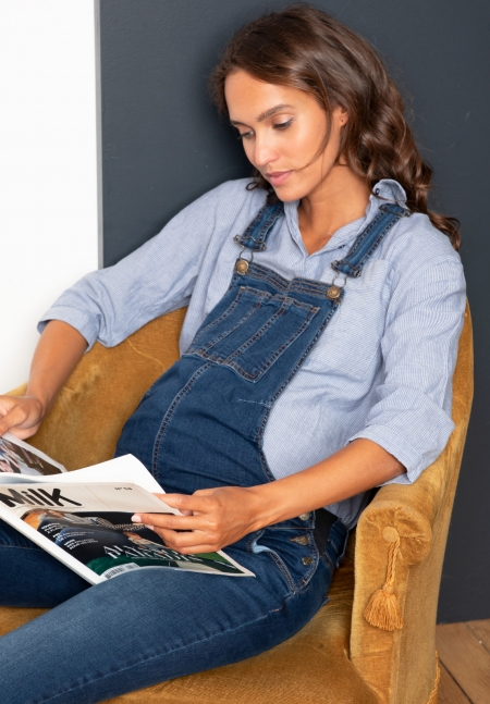 RYAN - Maternity denim dungarees - Envie de Fraise