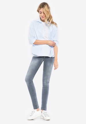 Slim maternity jeans with over belly band