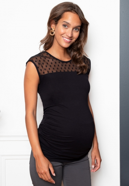PLUMY tank - Maternity top with embellishment - Envie de Fraise