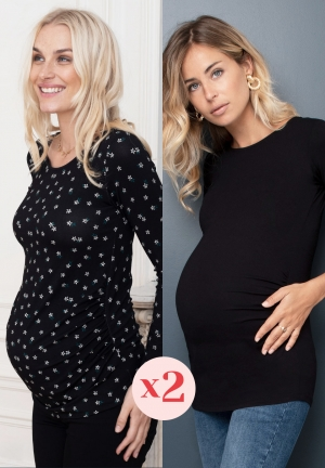 Pack maternity tops